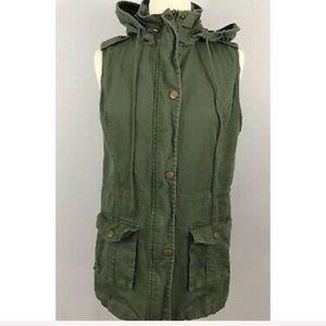 41Hawthorn Olive Green Elastic Waist Military Vest